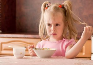 Child 3.5 years did not want to eat breakfast.